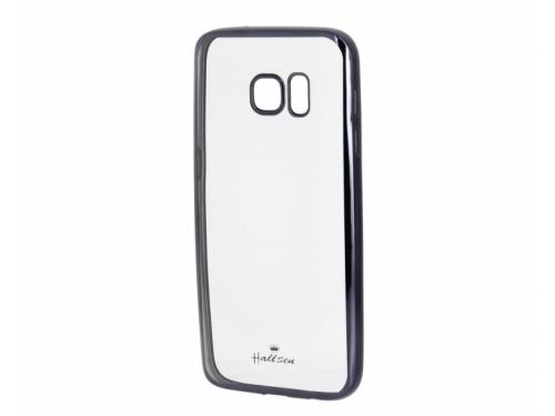 Чехол для смартфона Hallsen для Samsung Galaxy S7, прозрачный/черный, вид 1