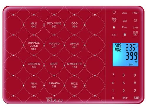 Кухонные весы Scarlett IS-565, красные, вид 1