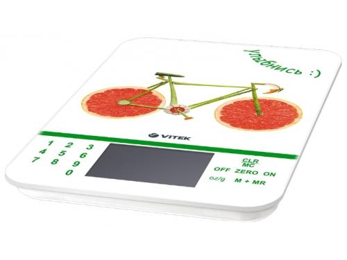 Кухонные весы Vivitek VT-2413, белый с рисунком, вид 1