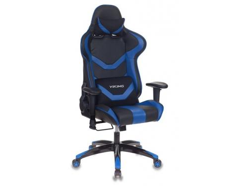 Компьютерное кресло Бюрократ CH-772N/BL+BLUE две подушки черный/синий искусственная кожа (пластик черный), вид 1