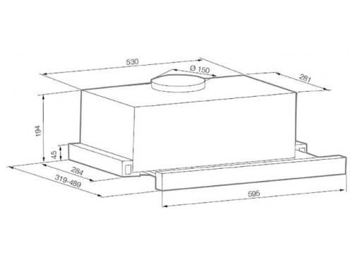 Вытяжка кухонная Graude DHF 60.0 E встраиваемая, вид 2