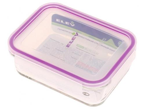 Контейнер для продуктов Eley ELH3402P прямоугольный  880 мл, баклажан, вид 1