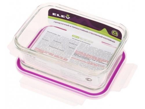 Контейнер для продуктов Eley ELH3402P прямоугольный  880 мл, баклажан, вид 2