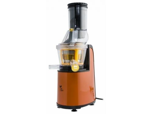 Соковыжималка Kitfort KT-1102, оранжевая, вид 2