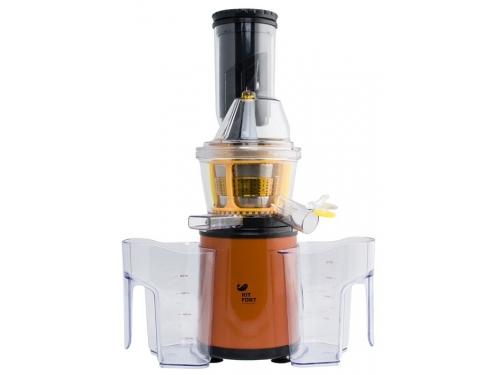 Соковыжималка Kitfort KT-1102, оранжевая, вид 4