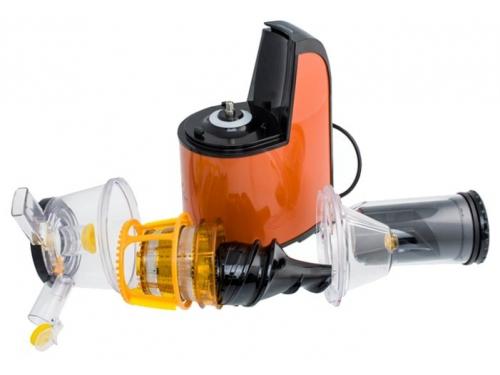 Соковыжималка Kitfort KT-1102, оранжевая, вид 9