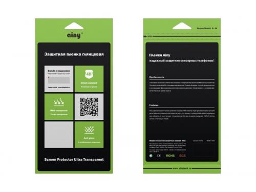Защитная пленка для смартфона Ainy для HTC Desire 728, глянцевая, вид 1