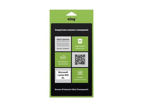 Защитная пленка для смартфона Ainy для Microsoft Lumia 640 XL, Lumia 640 XL Dual Sim, глянцевая, вид 1