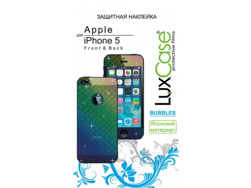 �������� ������ ��� ��������� LuxCase ��� Apple iPhone 5/5S F&B (Bubbles), ��� 1