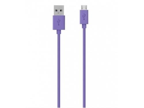 Кабель / переходник Belkin microUSB, фиолетовый, вид 1