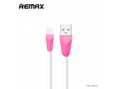 Кабель / переходник Remax Aliens RC-030i Lightning-USB для Apple iPhone, розовый, вид 1