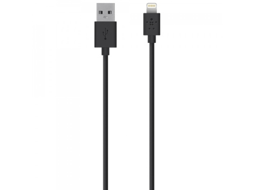 Кабель / переходник Belkin Lightning-USB для Apple, черный, вид 1