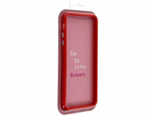 Чехол iphone бампер для Apple 6 Plus/6s Plus красный, вид 1