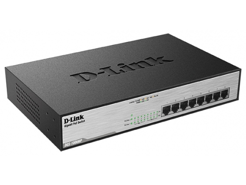 Коммутатор (switch) D-Link DGS-1008MP/A1A, вид 1