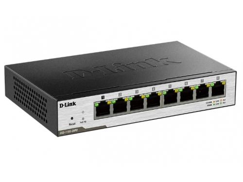 Коммутатор (switch) D-Link DGS-1100-08PD (управляемый), вид 2