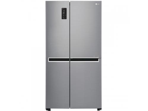 Холодильник LG GC-B247SMUV, серебристый, вид 1