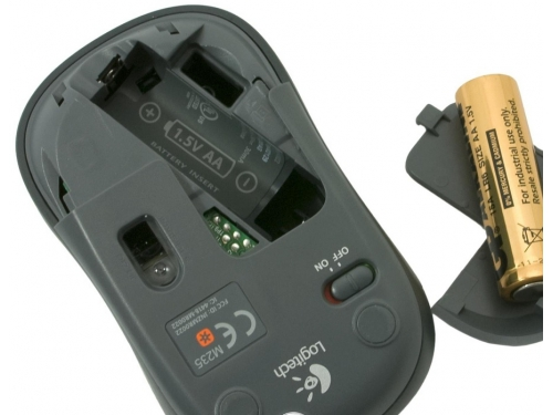 Мышь Logitech Wireless Mouse M235 Grey-Black USB (910-002201), вид 5