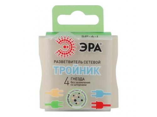 Сетевой фильтр ЭРА SP-4-I, слоновая кость, вид 2