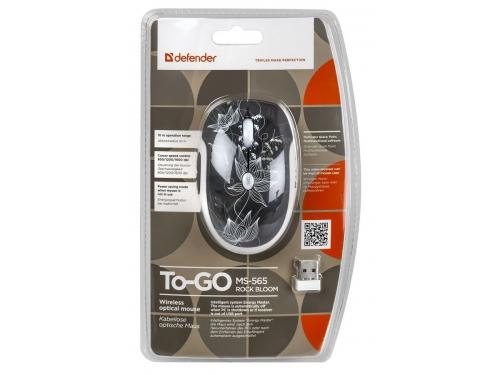Мышка Defender To-GO MS-565 Nano RockBloom (USB - радиоканал), вид 5