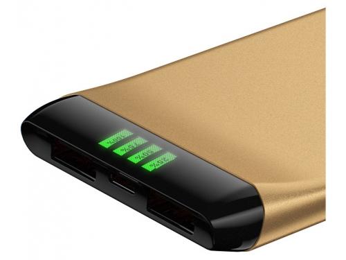 Аксессуар для телефона Hiper SLS6300, портативный аккумуляор, 6300 мАч, 2.1 А, USB, золотистый, вид 2