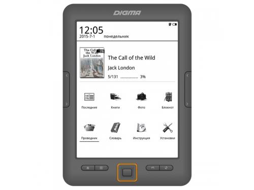 Электронная книга Digma E64M, серый, вид 1