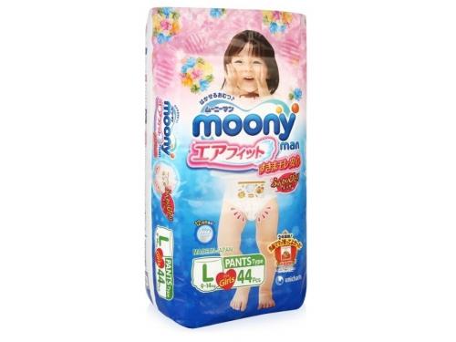 Подгузник MOONY для девочек 9-14 кг (44 шт.) L, трусики, вид 9