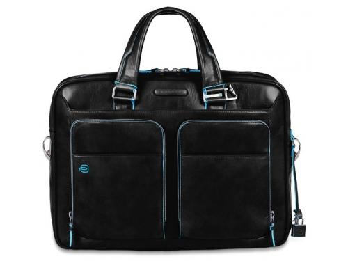 Сумка для ноутбука Piquadro Blue Square CA2849B2/N  натур.кожа, черный, вид 1