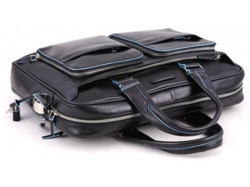 Сумка для ноутбука Piquadro Blue Square CA2849B2/N  натур.кожа, черный, вид 2