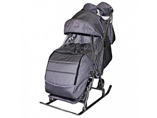 Санки-коляска GALAXY Kids-3-2-С, серебряная, вид 1