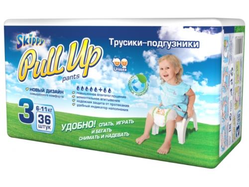 Подгузник Skippy р-р3 (6-11кг), 36 шт, Трусики для детей, вид 1