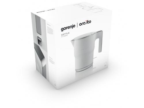 Чайник электрический Gorenje K15ORAW, белый, вид 5