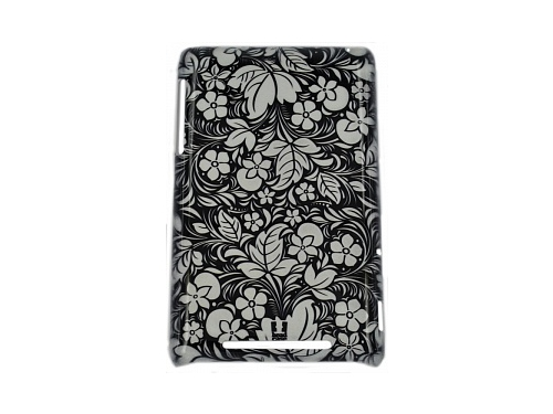 ����� ��� ��������� ������ E-cell FLORAL BLACK & WHITE PROTECTIVE HARD BACK CASE, ��� 1