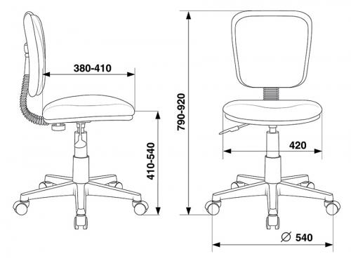 Компьютерное кресло Бюрократ CH-W204NX/15-48 серый/белый, вид 5