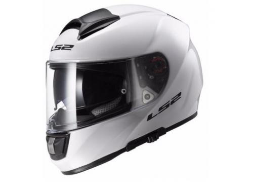 Шлем мотоциклетный LS2 FF397 VECTOR FT2 Solid L белый, вид 1