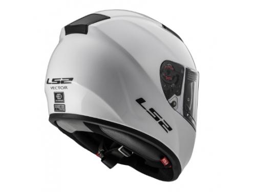Шлем мотоциклетный LS2 FF397 VECTOR FT2 Solid L белый, вид 2