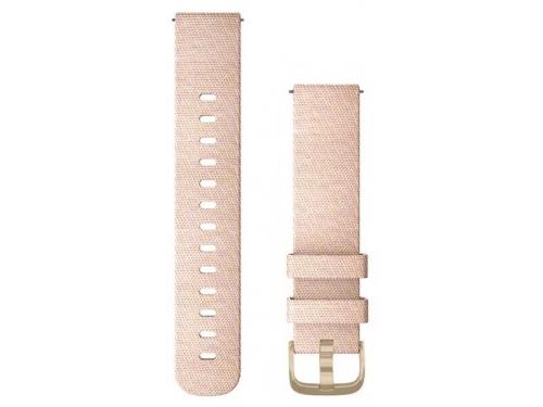 Ремешок для умных часов Garmin vivomove, Style  Fabric, розовые с золотом, вид 1
