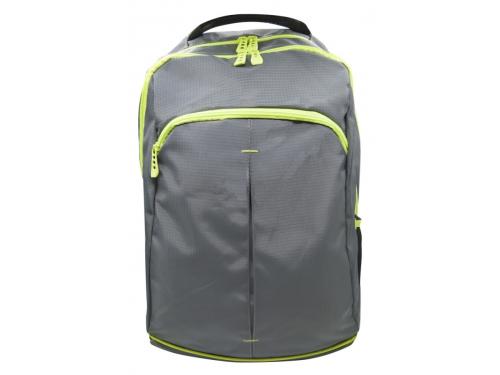 Рюкзак детский Silwerhof Power серый/зеленый неоновый, вид 1