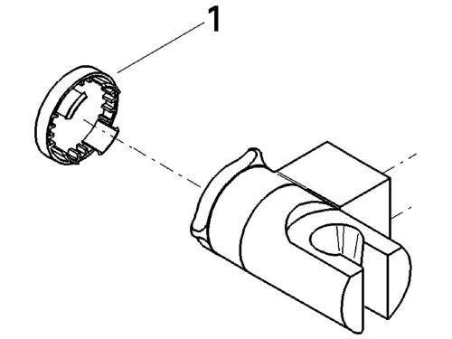 Душевой кронштейн Grohe 28623000 Relexa регулируемый, хром, вид 2