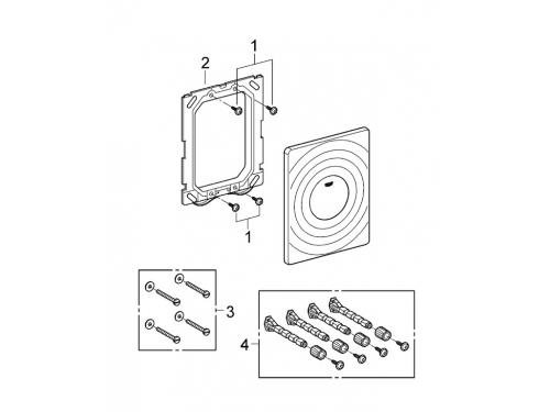 Панель смыва для писсуара Grohe 38574P00 Surf (1 режим смыва), матовый хром (38574P00), вид 6