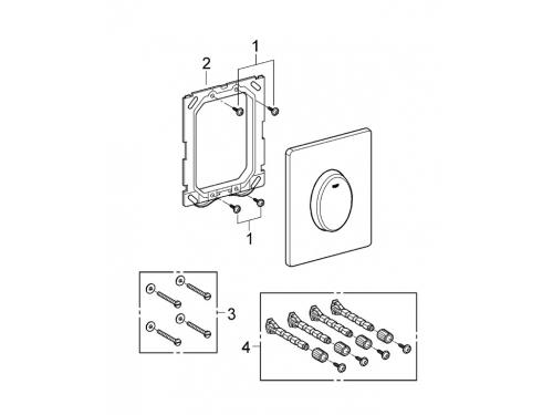 Панель слива для унитаза Grohe 38564000 Skate Air вертикальная (1 режим смыва), хром (38564000), вид 7