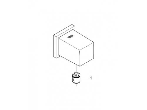 Подключение для душевого шланга Grohe 27704000 Euphoria Cube, хром, вид 3