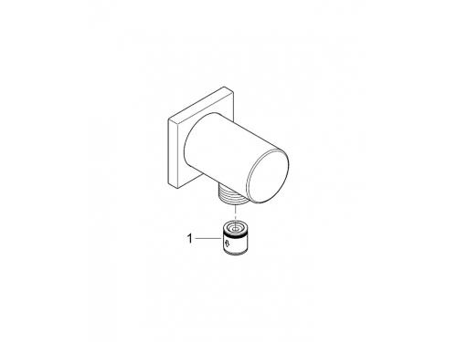 Подключение для душевого шланга Grohe 27076000 Rainshower с квадратной розеткой, хром, вид 2