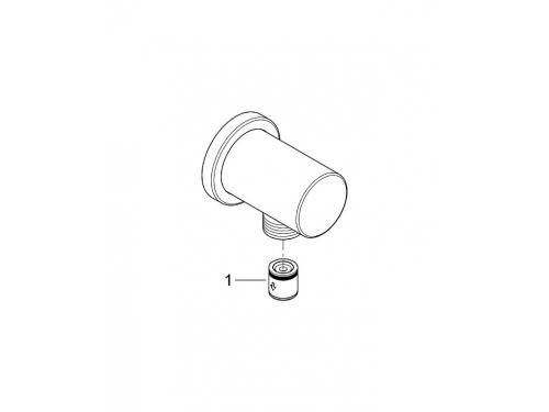 Подключение для душевого шланга Grohe 27057000 Rainshower с круглой розеткой, хром, вид 2