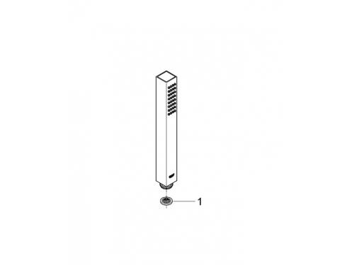 Ручной душ Grohe 27698000 Euphoria Cube (1 режим), хром, вид 5