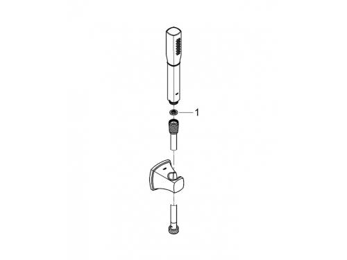 Душевой набор Grohe 27993000 Rainshower Grandera 1 режим, хром, вид 2