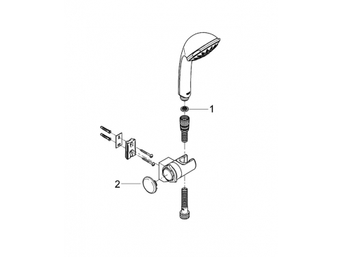 Душевой набор Grohe 28843000 Relexa Ultra (ручной душ, настенный держатель, шланг 1750 мм), хром, вид 2
