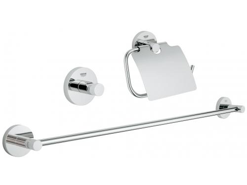 Набор аксессуаров для ванной комнаты Grohe 40775001 Essentials (3 предмета), хром (40775001), вид 1