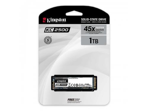SSD-накопитель Kingston 1000GB M.2 2280 SKC2500M8/1000G, вид 3