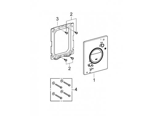 Панель слива для унитаза Grohe 38847LS0 Nova Cosmopolitan Print (3 режима смыва), белая луна (38847LS0), вид 2