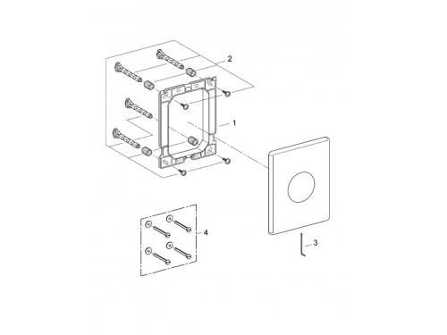 Панель слива для унитаза Grohe 38445SD0 Skate (1 режим смыва), нержавеющая сталь (38445SD0), вид 2